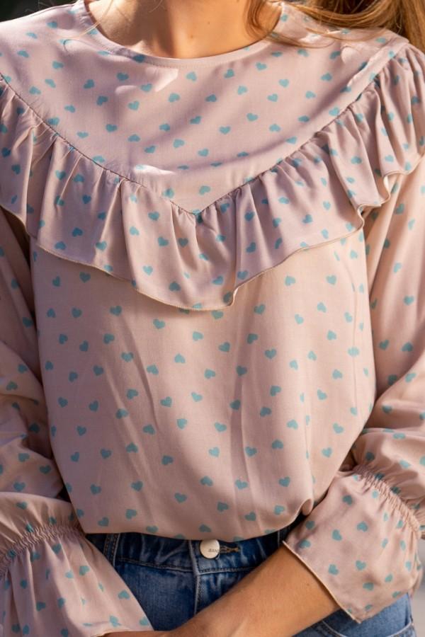 Koszula miętowe serduszka 1