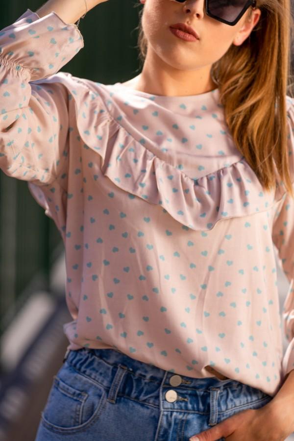 Koszula miętowe serduszka 3