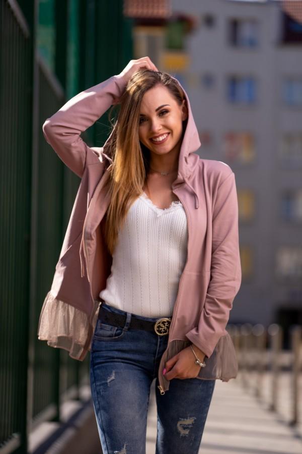 bluza różowa tiulowa