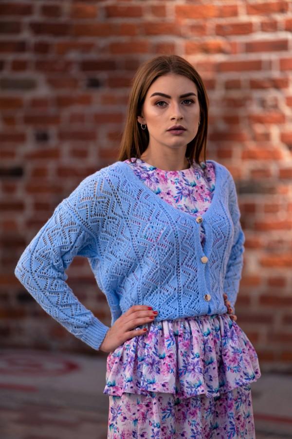 sweter rozpinany niebieski