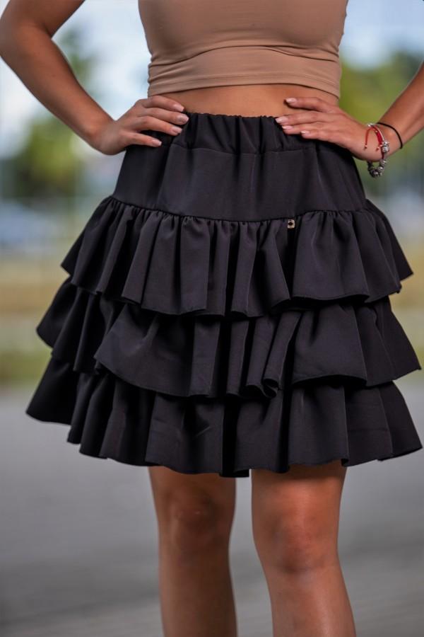 Spódnica falbanki mini czarna