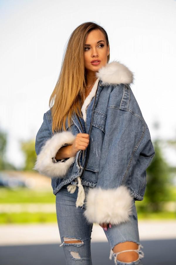 kurtka katana jeans miś 1