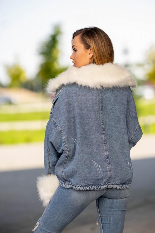 kurtka katana jeans miś 3