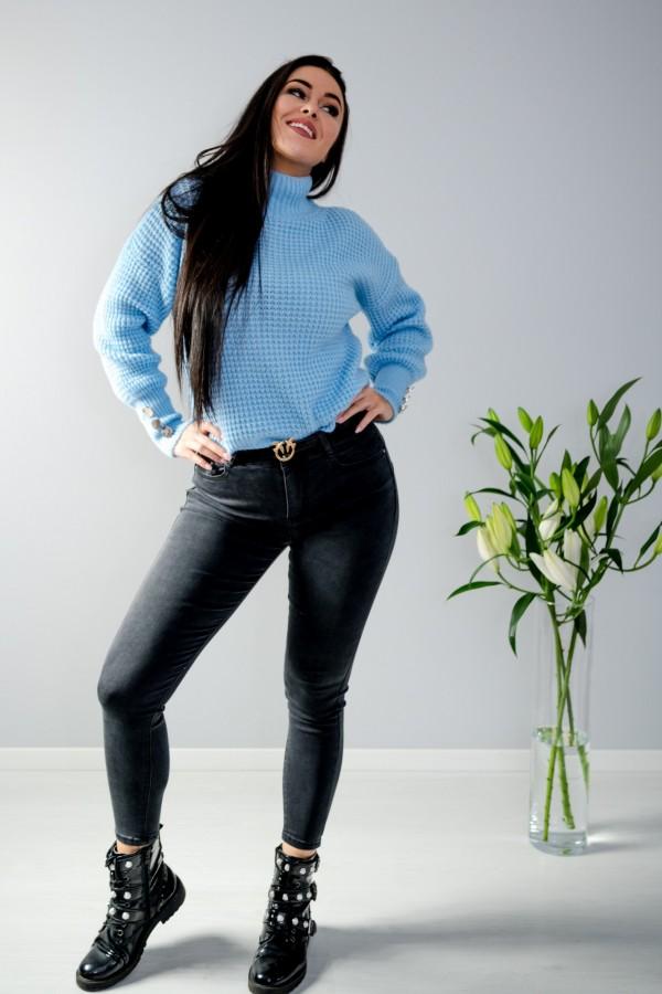 Spodnie jeans szare 3