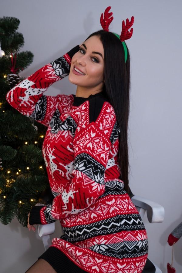 sweter tunika świąteczna