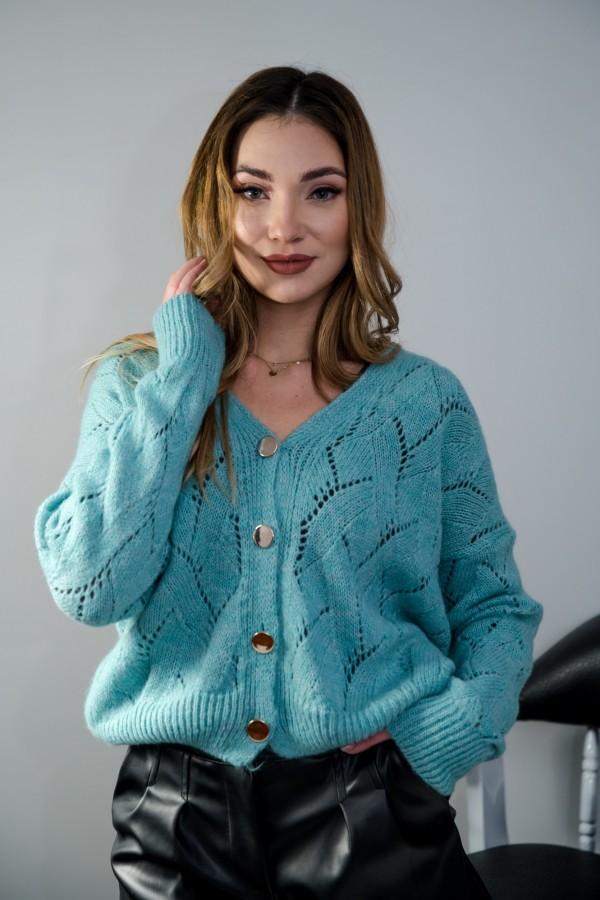 sweter rozpinany morski 3
