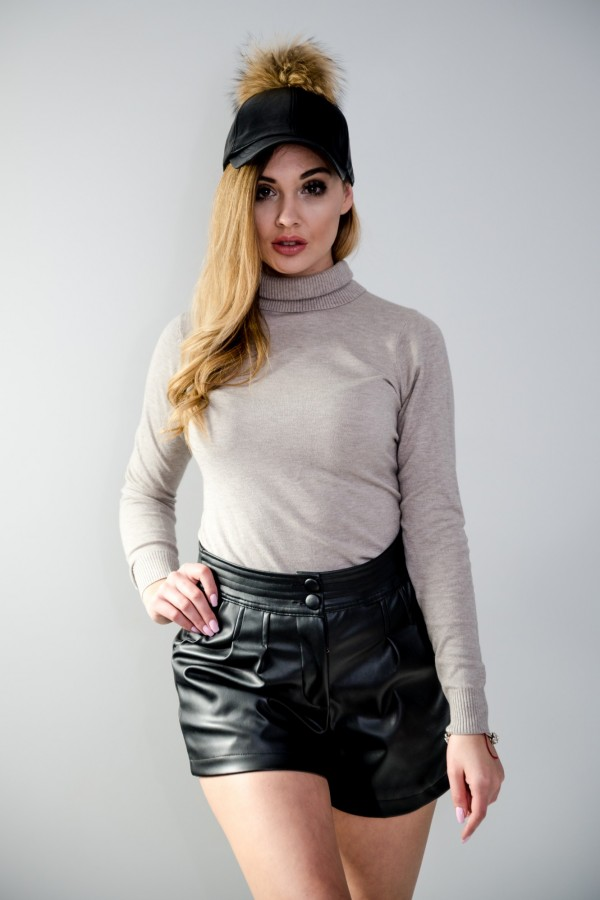 sweter golf beżowy 6