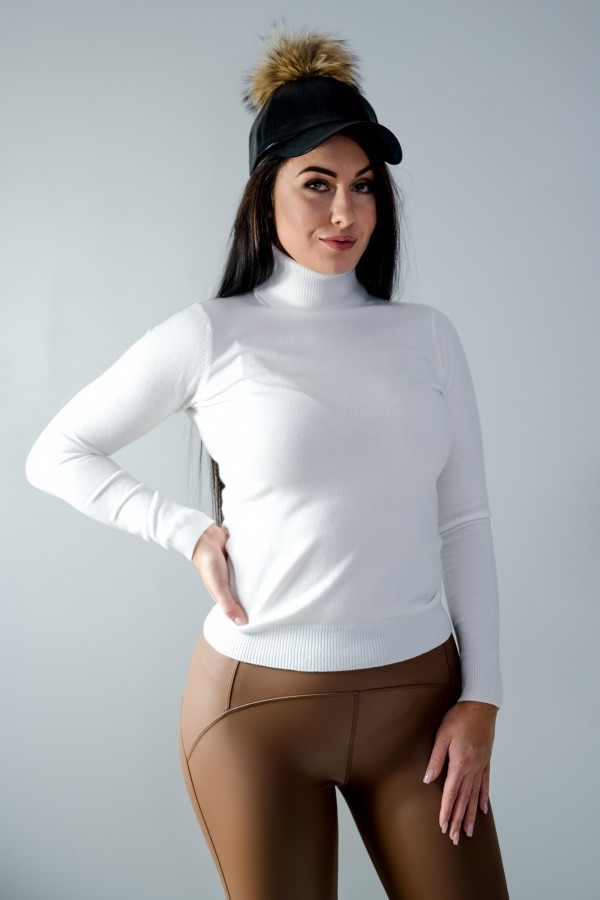 sweter golf biały 3
