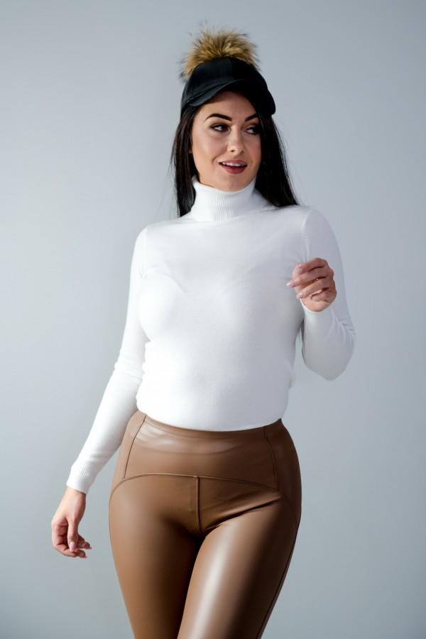 sweter golf biały 4