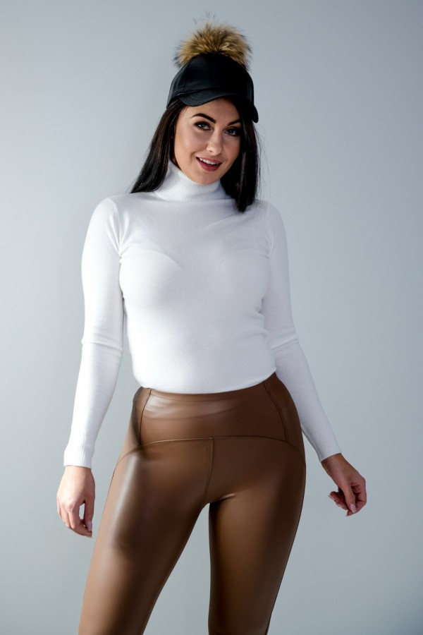 sweter golf biały 5