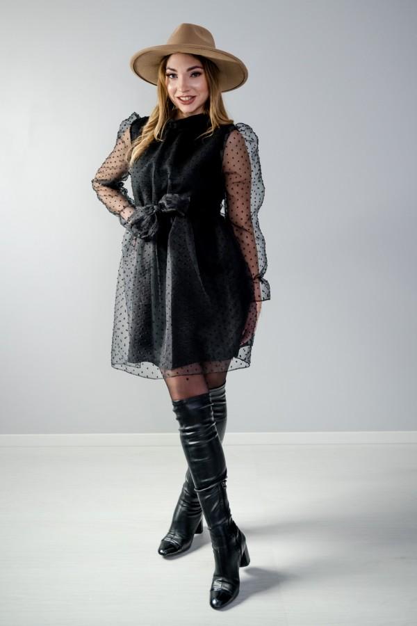 sukienka tiul czarna 2
