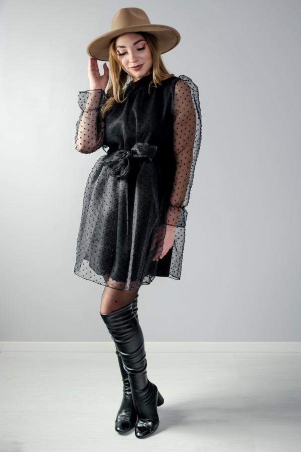 sukienka tiul czarna 3