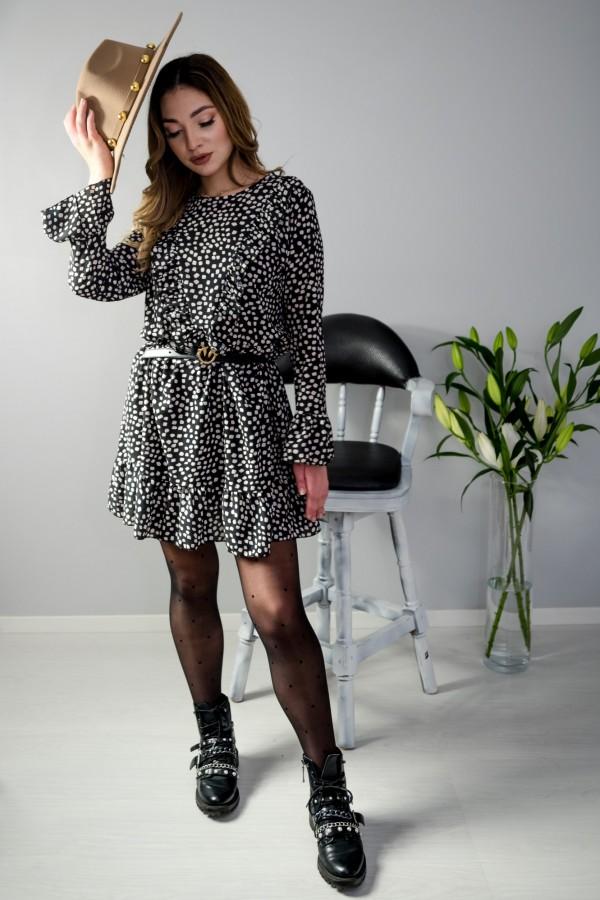 sukienka kropki czarna 2