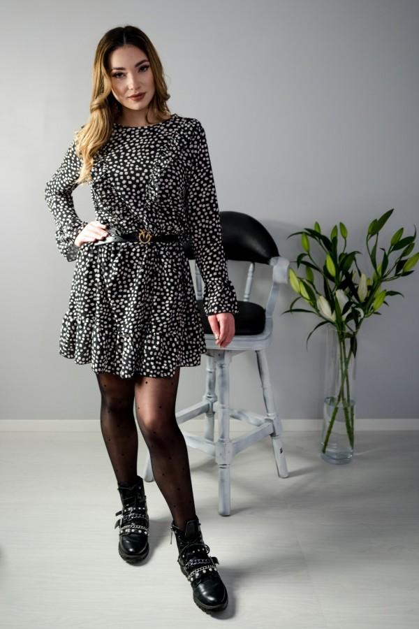 sukienka kropki czarna 3