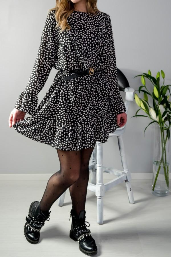 sukienka kropki czarna 4