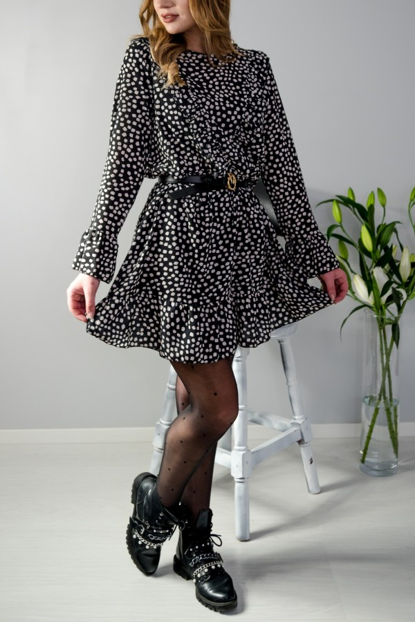 sukienka kropki czarna 5