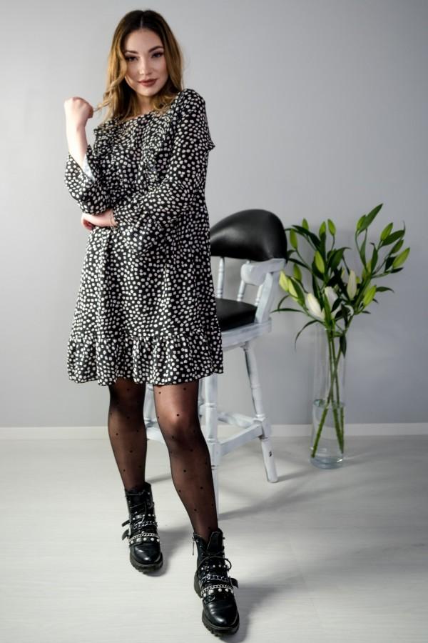 sukienka kropki czarna 6