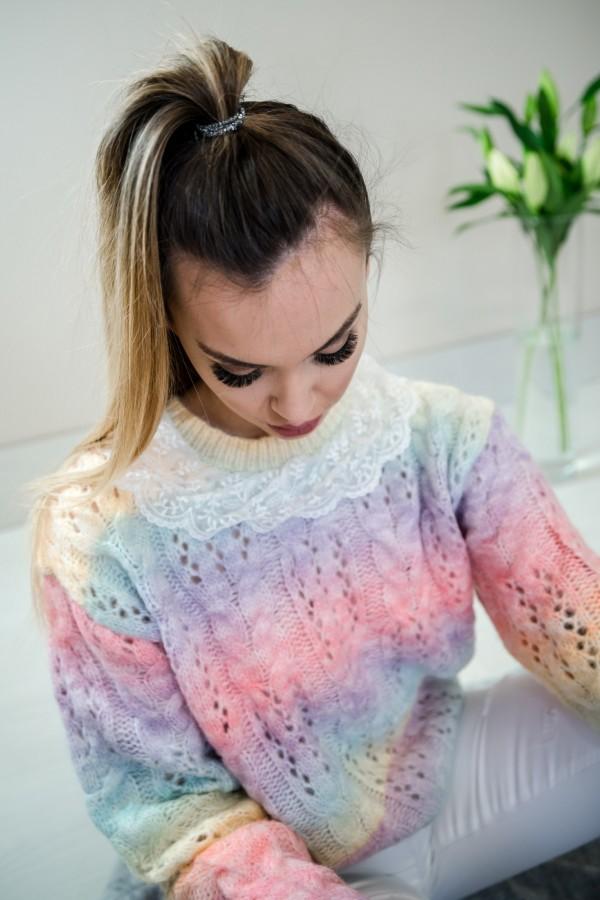 sweter pastelowy ombre kołnierzyk 3