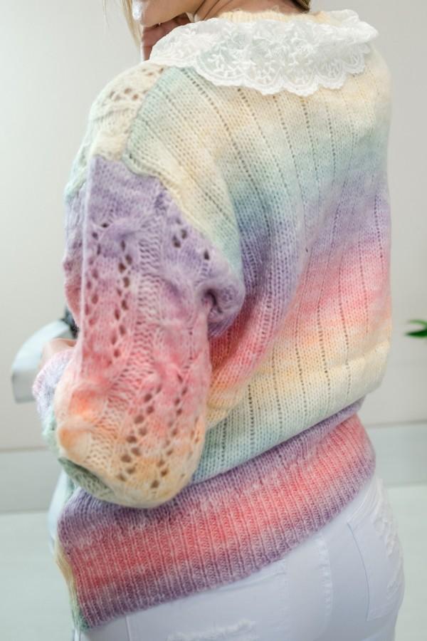sweter pastelowy ombre kołnierzyk 8