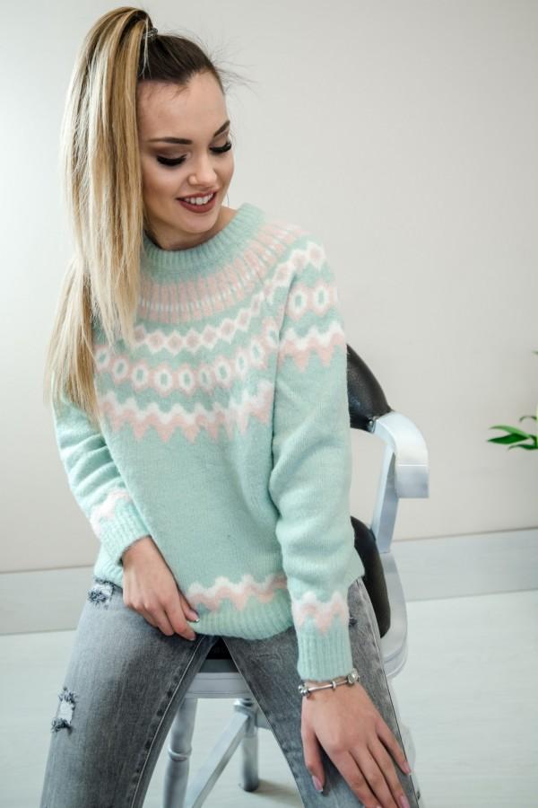 Sweter pastelowy mięta 1
