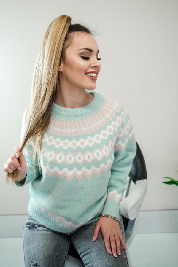 Sweter pastelowy mięta 4