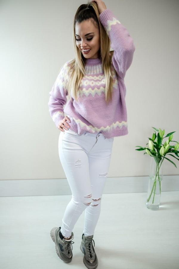 sweter pastelowy fiolet 2