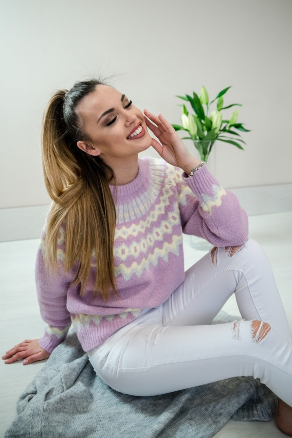 sweter pastelowy fiolet 3