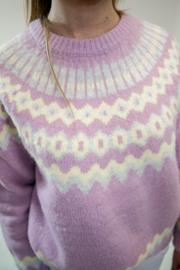 sweter pastelowy fiolet 4