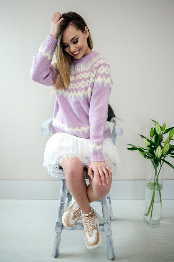 sweter pastelowy fiolet 5