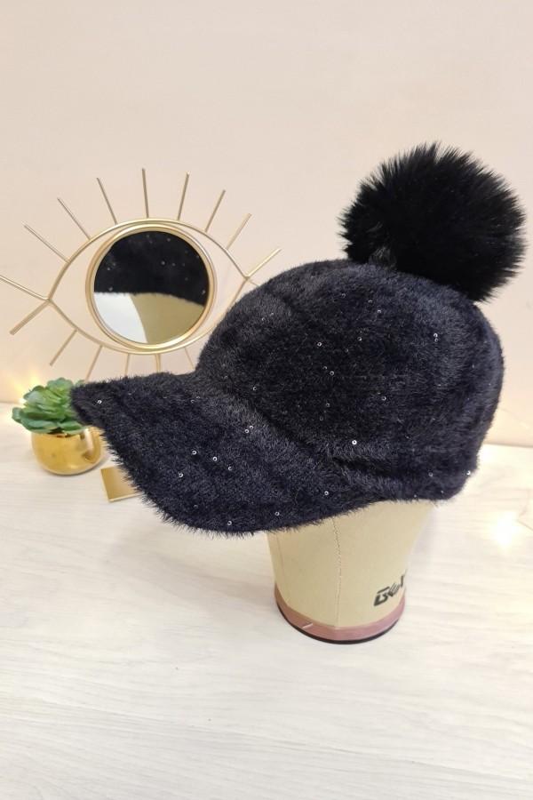 czapka z daszkiem czarna