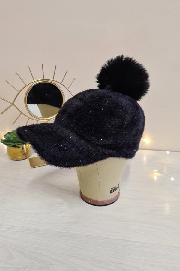 czapka z daszkiem czarna 1