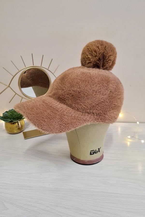 czapka z daszkiem camel