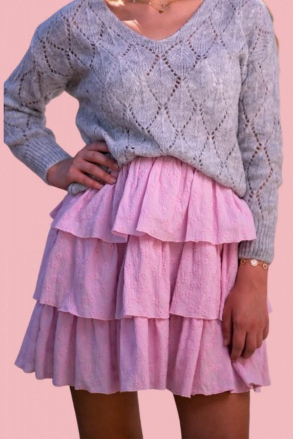 Spódnica różowa falbanka