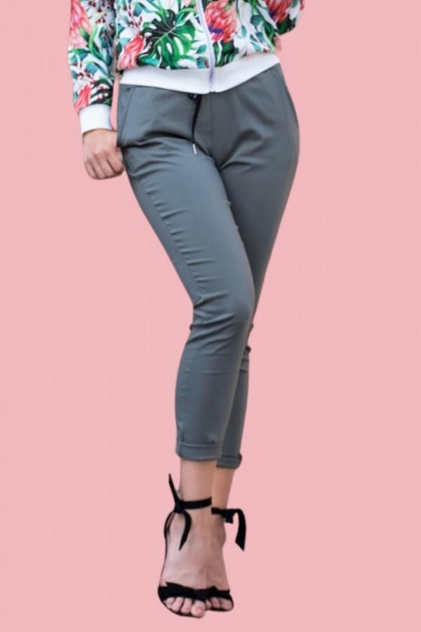 spodnie dres oliwka