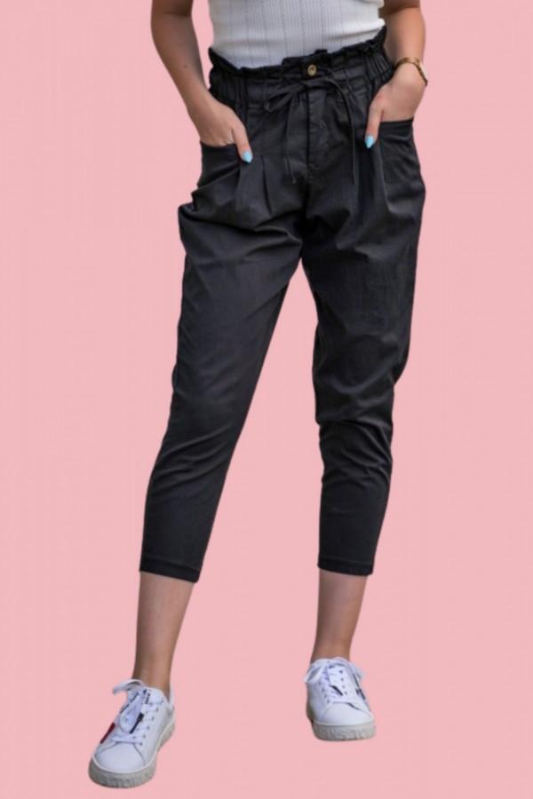 spodnie materialowe czarne