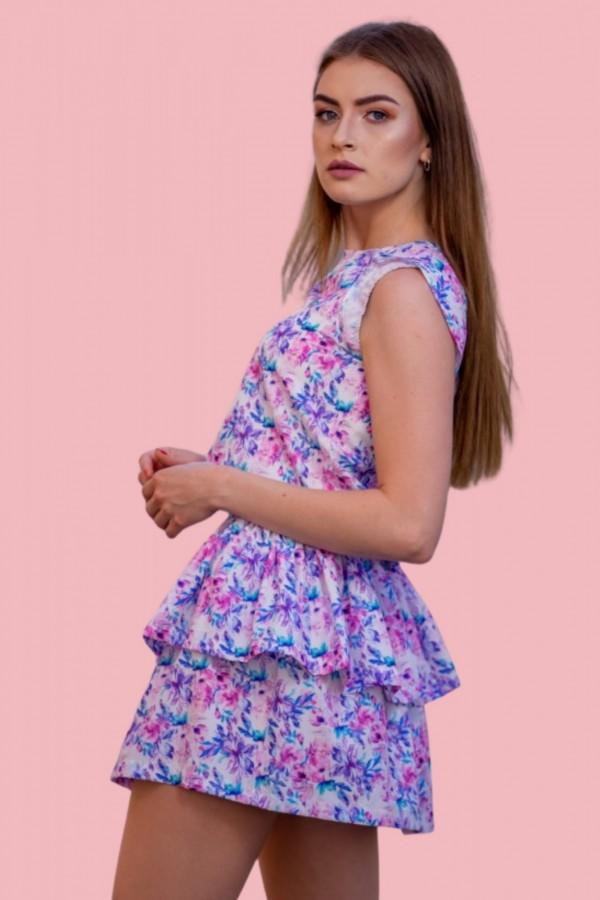 sukienka kwiaty fiolet