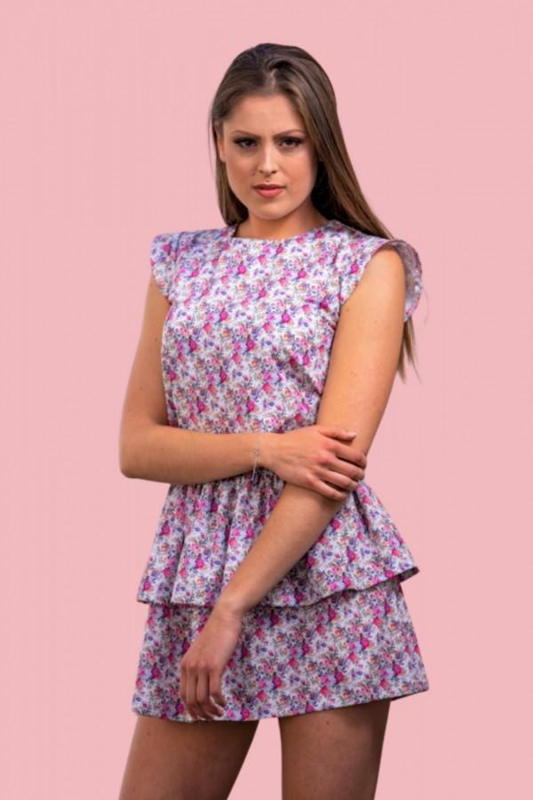 sukienka kwiaty roze