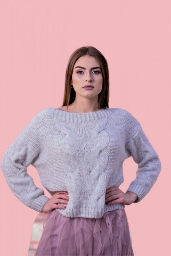 sweter oversize warkocz