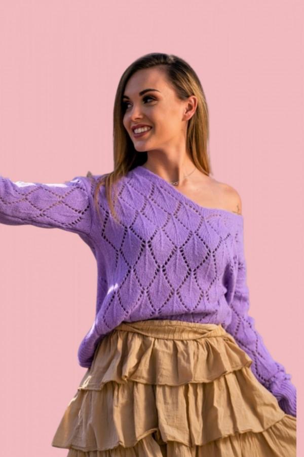 sweter fiolet