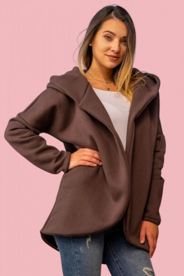 Bluza kurtka brązowa