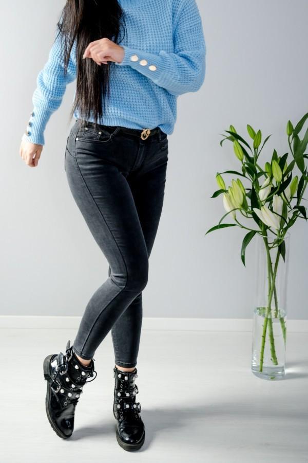 Spodnie jeans szare 1