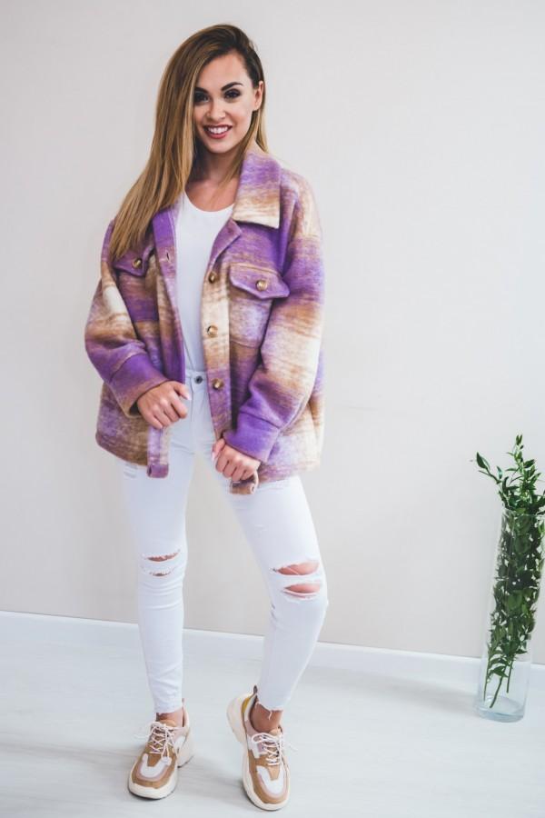 Koszula KRATA płaszcz fiolet 1