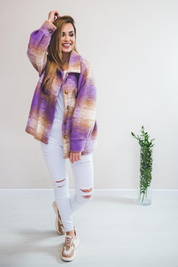 Koszula KRATA płaszcz fiolet 3