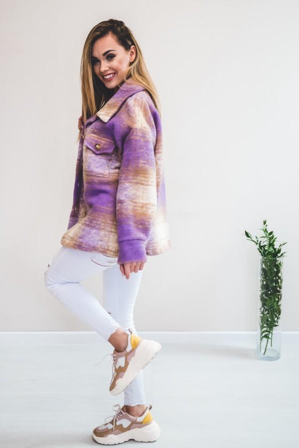 Koszula KRATA płaszcz fiolet 5