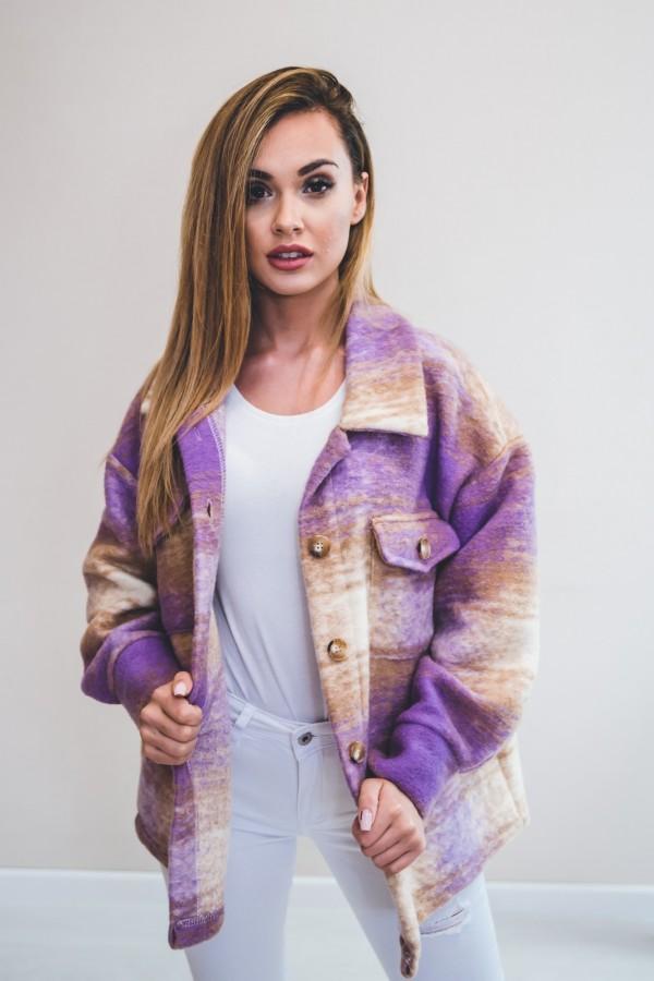 Koszula KRATA płaszcz fiolet 6