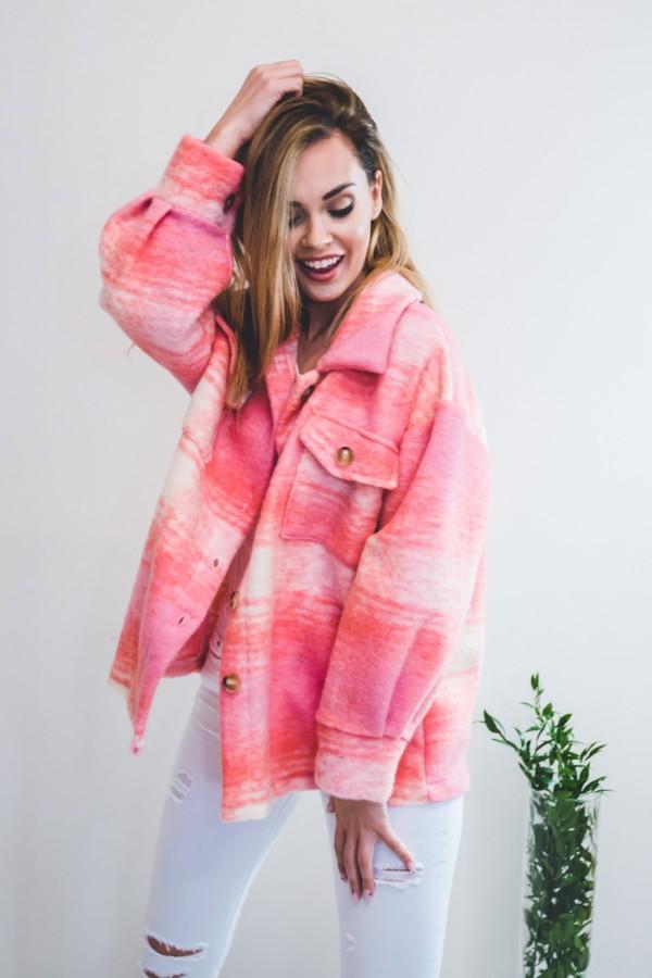 Koszula KRATA płaszcz różowa
