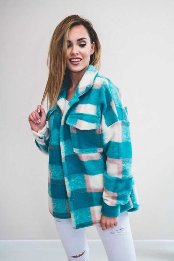 Koszula KRATA płaszcz niebieska