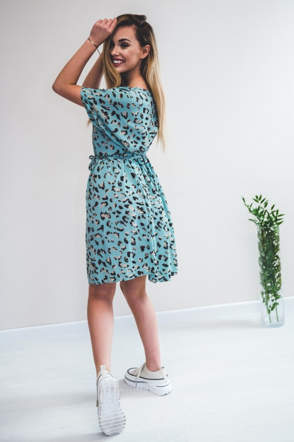 sukienka panterka seledynowa 3