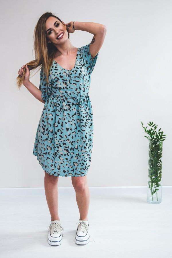 sukienka panterka seledynowa 4