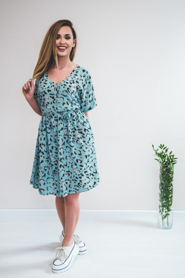 sukienka panterka seledynowa 6